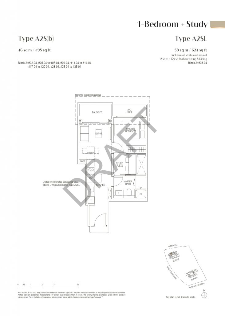 irwell-hill-residences-floor-plan-1-bedroom-study-type-a2sb